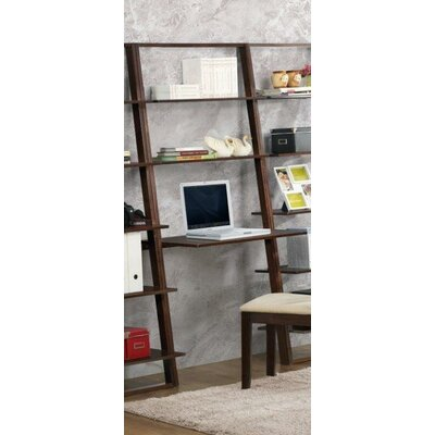 """4D Concepts Arlington Wall 72.4"""" Leaning Bookcase"""