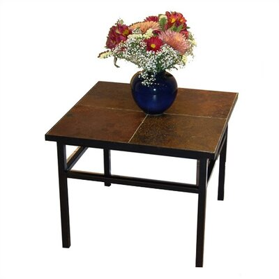 4D Concepts Slate Top Side Table