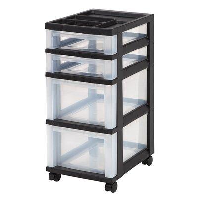 Iris 4 Drawer Rolling Storage Cart