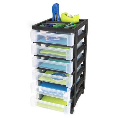 Iris 6 Drawer Rolling Storage Cart