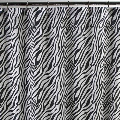 Sin In Linen Zebra Cotton Shower Curtain