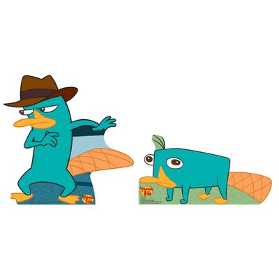 Advanced Graphics Cartoons Agent P. Perry Cardboard Stand-Up