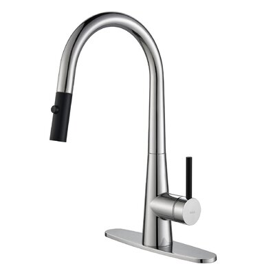 Crespo™ Single Lever Pull Down Kitchen Faucet by Kraus