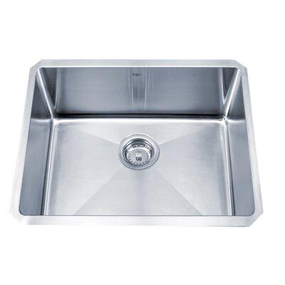 "23"" L x 18"" W Undermount Single Bowl 16 Gauge Kitchen Sink Product Photo"