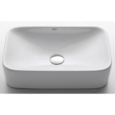 Ceramic Rectangular Bathroom Sink Product Photo