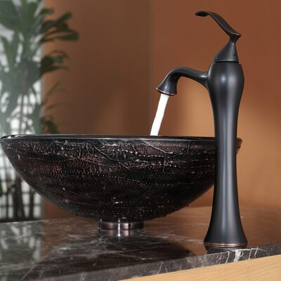 Kraus Copper Illusion Glass Vessel Sink And Ventus Faucet