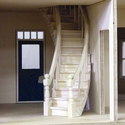 Real Good Toys New Concept Upgrades Dollhouse Circular Stairs