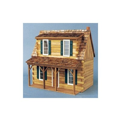 Log Holmes Cabin Dollhouse by Real Good Toys
