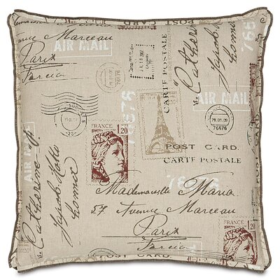 French Country Postage Stamp Throw Pillow by Eastern Accents