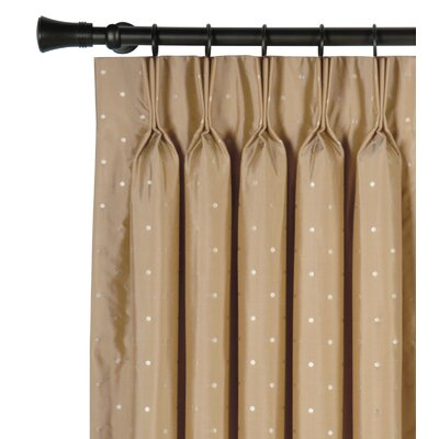 Eastern Accents Iris Silk Three Finger Silk Pleated Single Curtain Panel