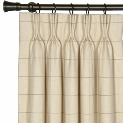 Eastern Accents Gallagher Franklin Cotton Pleated Single Curtain Panel