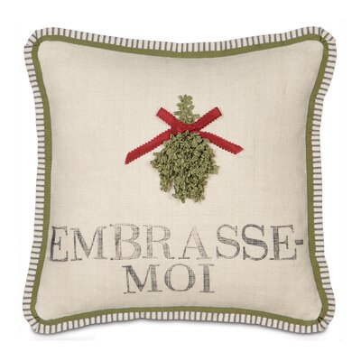 Eastern Accents Joyeaux Noel Embrasse-Moi Throw Pillow