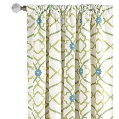Eastern Accents Bradshaw Cotton Rod Pocket  Single Curtain Panel