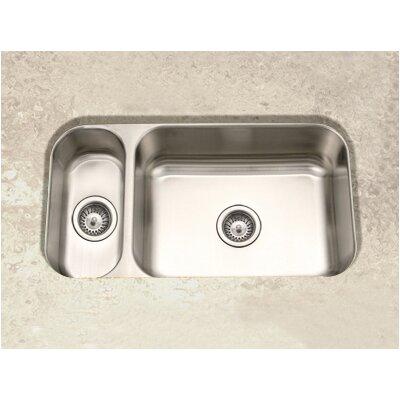 "Elite 31.5"" x 15.75 - 17.94"" Undermount Double Bowl 80/20 Kitchen Sink Product Photo"