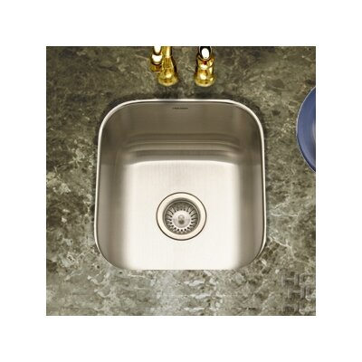"Club 17.94"" x 16.25"" Undermount Square Bar Sink Product Photo"