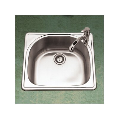 "Premiere Reflection 25"" x 22"" Topmount Single Bowl Kitchen Sink Product Photo"