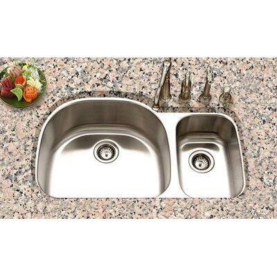 """Eston 32.19"""" x 20.5"""" Undermount 70/30 Double Bowl Kitchen Sink Product Photo"""