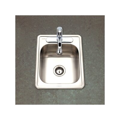 "Hospitality 22"" x 17"" Topmount 22 Gauge Large Bar Sink Product Photo"