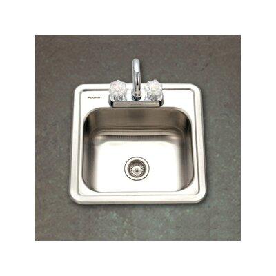 "Hospitality 15"" x 15"" Topmount 24 Gauge Bar Sink Product Photo"