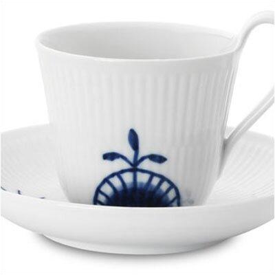 Royal Copenhagen Blue Fluted Mega 8.25 oz. Cup and Saucer