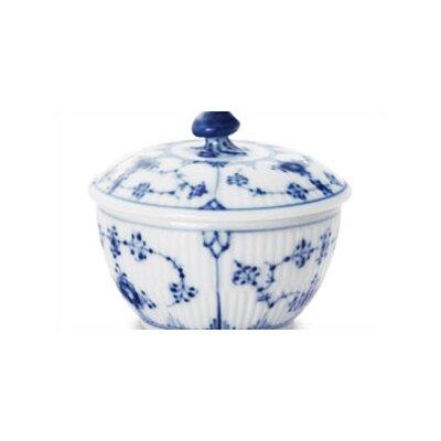 Royal Copenhagen Blue Fluted Plain 5.25 oz. Sugar Bowl with Lid