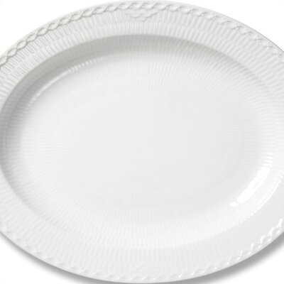 Royal Copenhagen White Half Lace Oval Platter