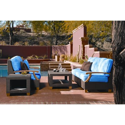 Three Birds Casual Ciera 4 Piece Deep Seating Group with cushions