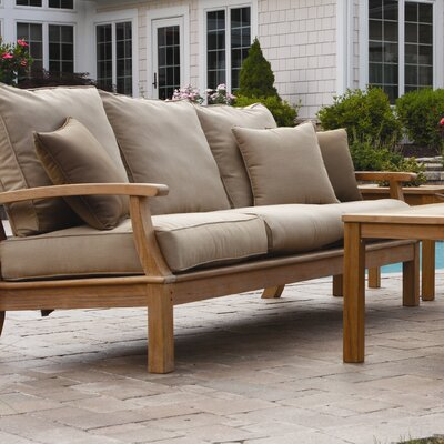 Monterey Deep Seating Sofa with Cushions by Three Birds Casual