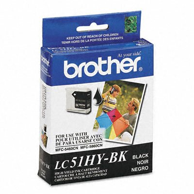 Brother LC51HYBK Innobella High-Yield Ink, 900 Page-Yield