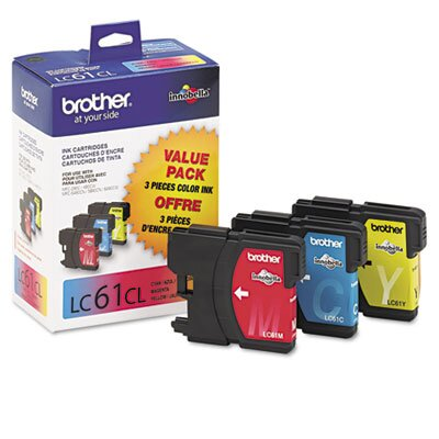 Brother LC613PKS Ink, 500 Page-Yield, 3/Pack