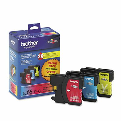 Brother LC653PKS High-Yield Ink, 900 Page-Yield, 3/Pack