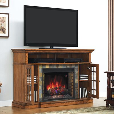 Lakeland TV Stand with Electric Fireplace by Classic Flame