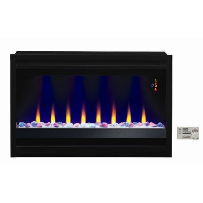 Classic flame contemporary electric insert fireplace - Contemporary electric fireplace insert accessories ...
