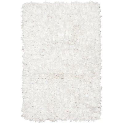 Paper Shag White Area Rug by Chandra