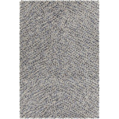Gems Textured Contemporary Shag Gray Area Rug by Chandra