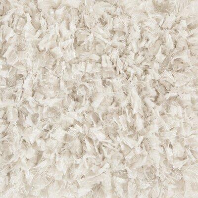 Bolero Textured Contemporary Shag White Area Rug by Chandra