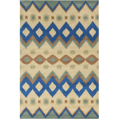 Allie Hand Tufted Wool Yellow/navy Blue Area Rug by Chandra