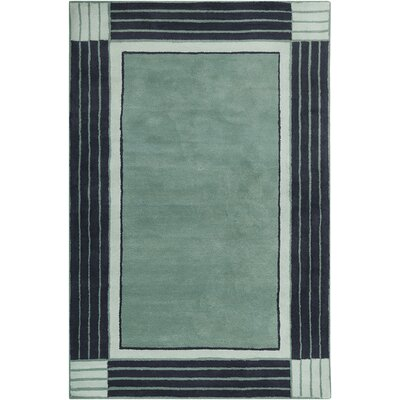Allie Hand Tufted Wool Teal Blue/Navy Blue Area Rug by Chandra
