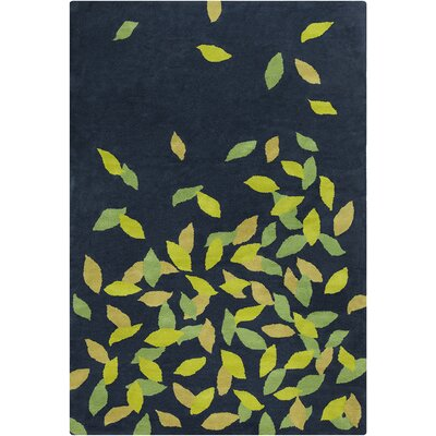 Allie Hand Tufted Wool Navy Blue/Green Area Rug by Chandra