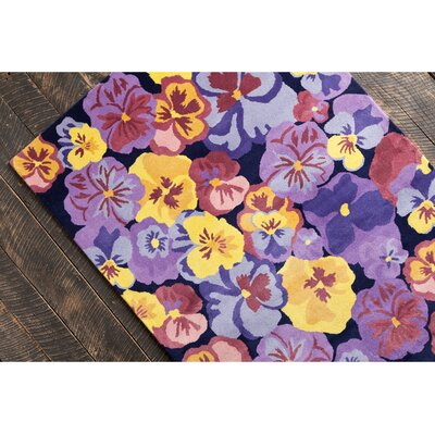 Allie Hand Tufted Wool Purple/Yellow Area Rug by Chandra