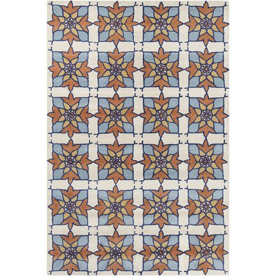 Allie Hand Tufted Wool Blue/White Area Rug by Chandra