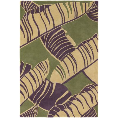 Chandra Rugs Alfred Shaheen Designer Green Area Rug