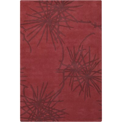 Counterfeit Contemporary Designer Crimson Area Rug by Chandra