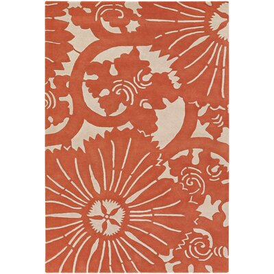 Chandra Rugs Counterfeit Contemporary Designer Orange Area Rug
