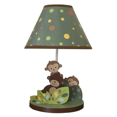 "Bedtime Originals Curly Tails 16.25"" H Table Lamp with Empire Shade"