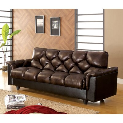 Carlington Leather Vinyl Storage Sleeper Sofa by Hokku Designs
