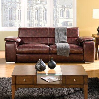 Esteban Leatherette Sofa by Hokku Designs