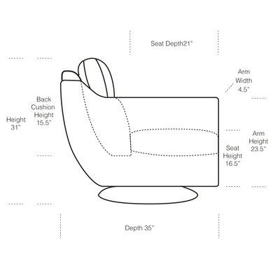 Hokku Designs Leo Top Grain Leather Chair