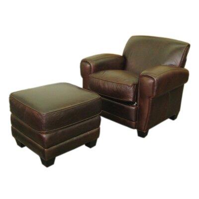 Havana Classic Leather Chair and Ottoman by Hokku Designs