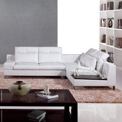 Leather Right Hand Facing Sectional by Hokku Designs